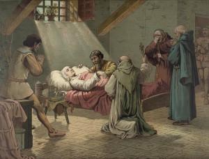 Columbus Death Bed