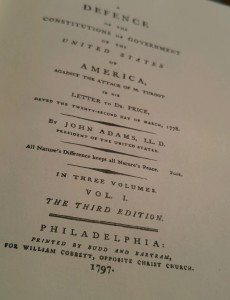 John Adams Constitutions